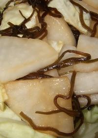塩昆布と大根とキャベツの浅漬け
