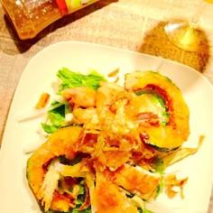 根菜の食感楽しむ♪鶏胸の揚げ焼きサラダ☆