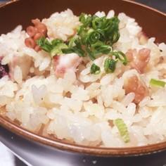 タコと里芋の炊き込みご飯〜生姜風味〜