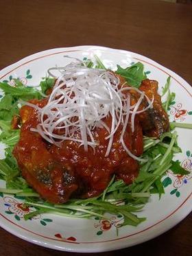 揚げ鯖のトマトチリソース