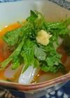 いかソーメンの大葉たっぷり卵かけ醤油