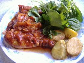 スロークッカーで作るチキンのトマト煮