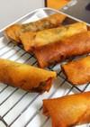 舞茸とシメジとひき肉のスタミナ春巻き