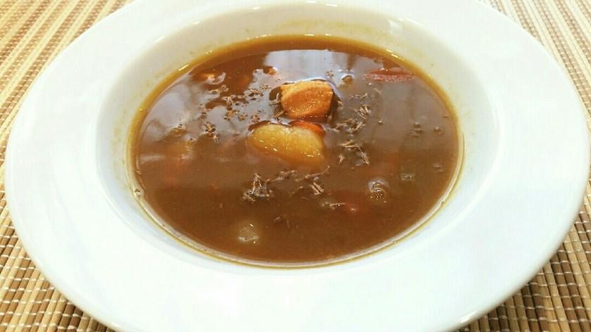 簡単♡お家の残りカレーをスープにしたやつ