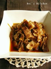 豚と牛蒡の生姜煮の写真