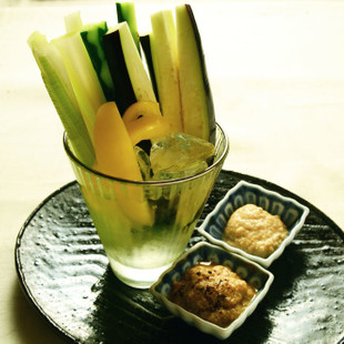 いろいろ野菜スティック 豆腐のディップ