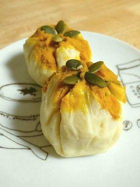 お弁当に!かぼちゃサラダのチーズ茶巾
