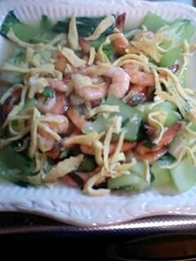 Asian♪えびと青梗菜のナンプラー炒め