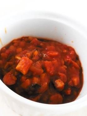 サラミソーセージDEトマト味噌ソース