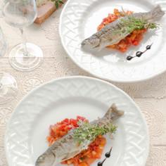 岩魚のポワレ ラタトゥイユソース