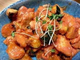 簡単節約晩ごはん③鶏胸肉のオーロラソース