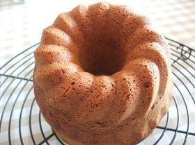 クグロフ型でメイプルケーキ