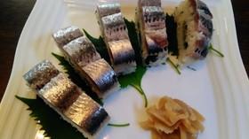 鰯の昆布締めと押し寿司