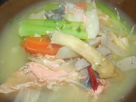 鮭のあら汁☆たっぷり野菜と(^^♪