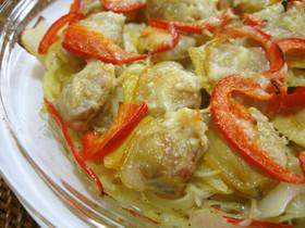 ホンビノス貝とポテトのオーブン焼き