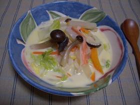 白菜スープ!牛乳仕立てであったか♪