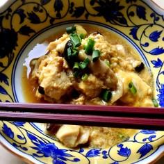 簡単和食★鶏胸肉とシメジのふんわり卵とじ