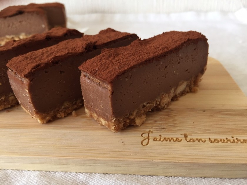 粉ゼロ☆濃厚チョコチーズケーキ