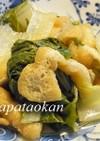 ほっこり(^^シロナと薄揚げの煮物