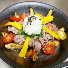 牛肉と夏野菜のサッパリポン酢かけ