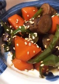 時短で簡単♫ゴロゴロ野菜のきんぴら