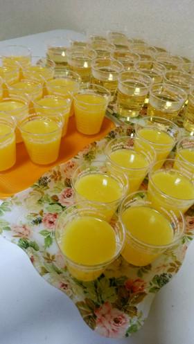 果汁100%ジュースのゼリー