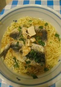 サッポロラーメンイワシの唐揚げ麻婆豆腐