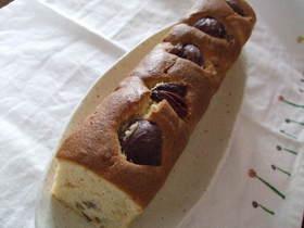 栗の渋皮煮が入ったマロンケーキ