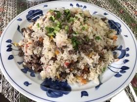 モンゴル♡牛肉いっぱいプロフご飯