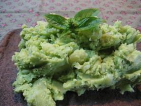 バジル色のポテトサラダ