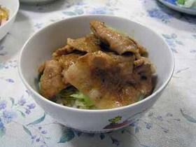 焼肉のタレで簡単・美味しい♪豚丼
