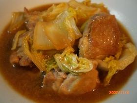 鶏肉と白菜の甘味噌煮♪