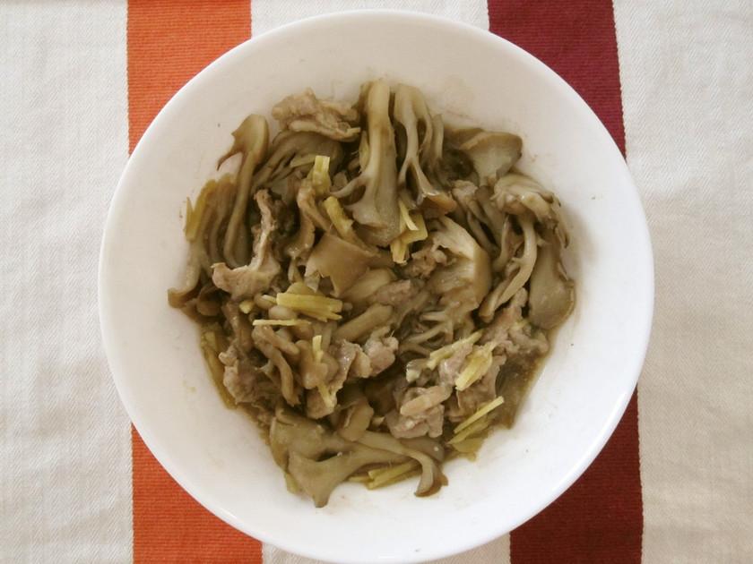 豚肉と舞茸のマヨ味噌煮