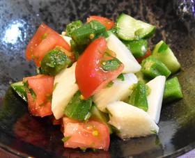 ヘルシー★長芋と夏野菜のさっぱりサラダ