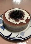 ブルーベリーヨーグルトのレアチーズケーキ