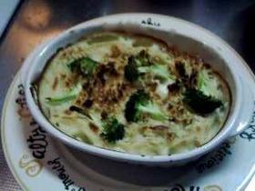 豆乳ホワイトソースのマカロニグラタン