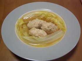 白菜と鶏だんごのス~プ