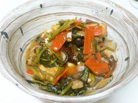 小松菜と鶏の甘辛煮