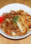 揚げ餅 with 焼そば/そば・うどん