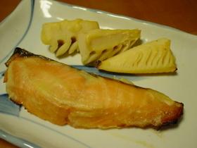 オーブンで♪鮭の西京漬け焼き