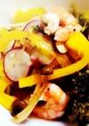 海老*キノコ*季節の野菜でカラフルマリネ
