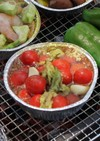BBQに☆アボカドとトマトのアヒージョ