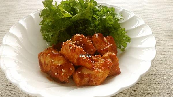 鶏胸肉 de 韓国風甘辛炒め