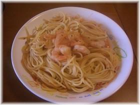 えびのトマトクリームスパゲッティ