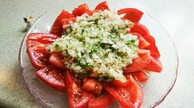 さっぱりトマトと玉ねぎのサラダ