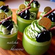 濃厚うまうま♡抹茶ババロアの写真