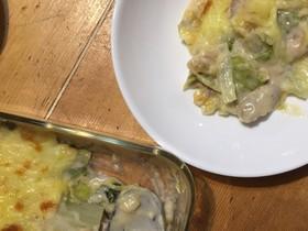 シンプル!白菜と鶏肉のグラタン