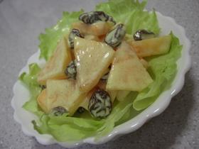 秋です☆柿とレーズンのサラダ♪