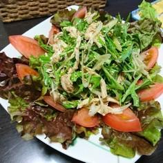 鶏むね肉と水菜の中華風サラダ