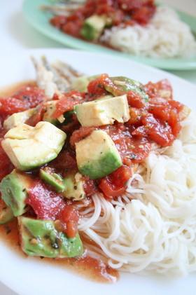 イタリアンっぽく☆シシャモと素麺